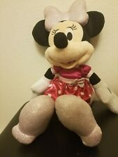New listing Disney Minnie Mouse Bows A Glow Plush Doll Talking Light Up Stuffed Animal Toy