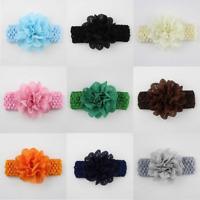 Adorable Baby Girls Flower Bow Headband Soft Elastic Hairband Hair Accessories