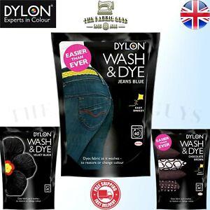 Dylon Wash & Dye Fabric Clothes Jeans Dye Pouch 350g Powder Easier than Ever