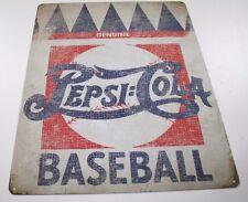 Vintage Replica Tin Metal Sign genuine pepsi cola baseball bat game run soda