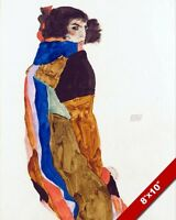 MOA BOHEMIAN DANCER WOMAN PORTRAIT EGON SCHIELE PAINTING ART REAL CANVAS PRINT