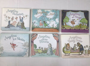 Angelina Ballerina Lot of 6 Hard cover Books Great Condition Katharine Holabird