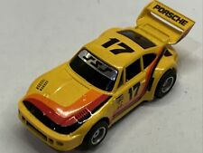 Vintage TYCO 1979 Porsche 935 HO Slot Car In YELLOW Lighted #17 MINT !