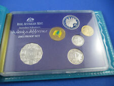 2003 Australia Proof Coin Set - Australia's Volunteers Making Difference - RAM