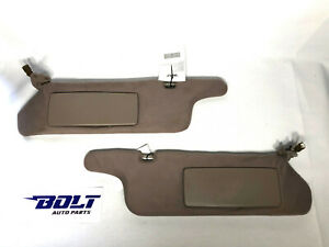 1995-99 Toyota Avalon Sun Visors Brown Tan Driver Passenger Pair OEM Left Right