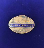 Vintage LMS Railway Service London Midlands Scottish Lapel Badge 60430 Fattorini