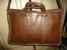 COACH F70374 Dk Brown Leather EMBASSY Lexington Briefcase w Strap + WALLET (h7