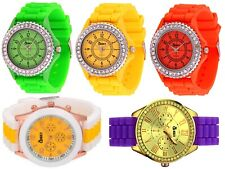 5er Set Cheeky Uhren farbig sortiert,Armbanduhren, Silikonarmband, Quarzuhrwerk