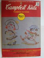 Sewing Transfer Pattern 4106 Vtg Campbell Soup Kids Vogart Embroidery Painting