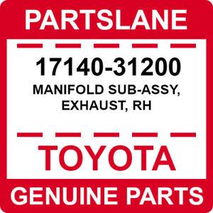 17140-31200 Toyota OEM Genuine MANIFOLD SUB-ASSY, EXHAUST, RH