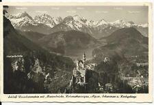 Ansichtskarte Schloss Neuschwanstein - Schloss mit Marienbrücke - schwarz/weiß