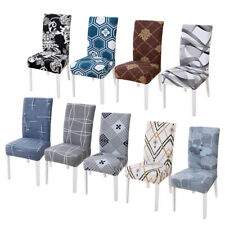 1~6 Elastic Dining Chair Cover Stretch Slipcovers Protector Home Furniture Decor