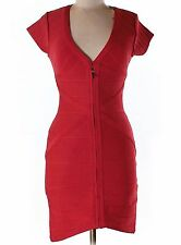 NWT Stretta Red Form Fitting Silhouette Dress Size Medium