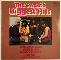 THE SWEET BIGGEST HITS LP RCA ORANGE LABELS 1972 UK NEAR MINT PRO CLEANED