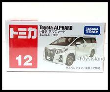 TOMICA #12 TOYOTA ALPHARD 1/65 TOMY 2015 NOV NEW MODEL DIECAST CAR WHITE