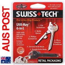 Utili-Key 6 in 1 Key Ring Chain MULTI-TOOL Pocket Knife Screwdriver Swiss Tech