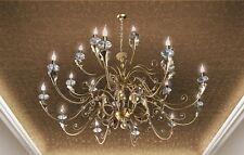 Lampadario classico di design foglia oro e cristallo BELL versailles 1803/L20L