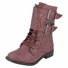 Girls Spot On Boots With Buckle 'Design'