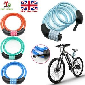 Combination Number Bike Lock Strong Heavy Duty Cycle Security Bicycle Lock Steel