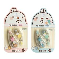 2pcs Correction Tape Decorative Cute Molang School Office Supply Stationey xkj