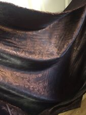 "10 MTR BROWN PAISLEY SELF PRINT SOFT BROCADE FABRIC 58"" WIDE SPECIAL OFFER £40"