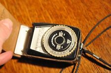 vintage Leningrad 4 Exposure light meter case  good condition