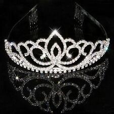 Ladies Crystal Hair Hoop Bridal Princess Bling Shiny Crown Head Band Chic Gift