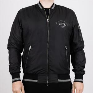 Mens Societe Noir Maison Bomber Jacket Black (SNA1) RRP £89.99