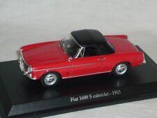 Fiat 1600s 1600 S Cabriolet 1965 Rot 1/43 De Agostini Modell Auto Modellauto