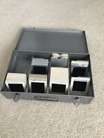 Family Slides Large Format 1960s Lot Of 90 With Brumburger Metal Case