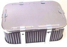 WEBER 32/ 36 DGAV DGAS CHROME PLATED RECTANGLE AIR FILTER 65mm