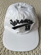 NWT VERSACE White Nylon Varsity Logo Medusa Adjustable Cap Hat Sz 57 US 7 $395