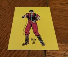 1989 Nintendo Video Game Sticker Billy Lee Super Mario Bros Top Secret Tip Card