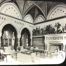 The Saloon At Eaton Hall England Antique Magic Lantern Glass Slide Photo