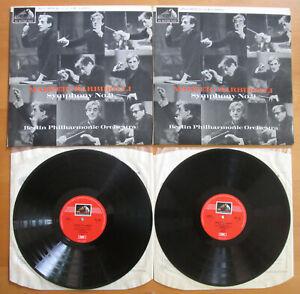 ASD 596-7 Mahler Symphony no. 9 Sir John Barbirolli Berlin Phil 2xLP HMV Stereo