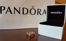 Authentic Pandora Sparkling Love Knot Ring Size 5 (50) Rose Collection