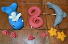 3D HANDMADE WHALE DOLPHIN UNDER THE SEA  CAKE TOPPER/ birthday