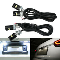 4x White Motorcycle Screw SMD LED Bolt Lamp Car License Plate Light High Quality