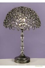 DUSX Antique Silver Boho Indian style Table Lamp