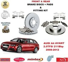 Per AUDI a4 Avant 2.0 TFSI 211 CV Anteriore E Posteriore Dischi Freno & Pastiglie + Kit di montaggio