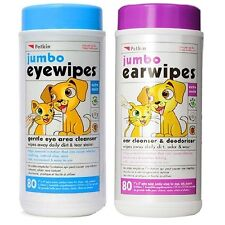 More details for petkin jumbo ear & eye cleansing deodorising wipes - dog puppy cat gentle clean