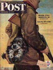 1945 Saturday Evening Post November 17-Butch goes hunting;Yale Football; Okinawa