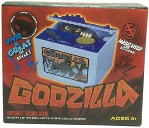 Godzilla Mischief Coin Stealing Musical Bank. US Seller Free Ship