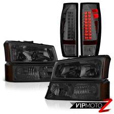 03-06 Chevy Avalanche Dark Smoke Tail Lights Bumper Light Headlights LED