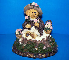 Boyds Bears Music Box 2000 MRS TUTTLE.STOP & SMELL ROSES Tune:The Rose #2796SF