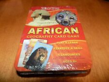 Worldwise African Geography Card Game Edition 2009 Tin Case 8+ Rare Sealed New