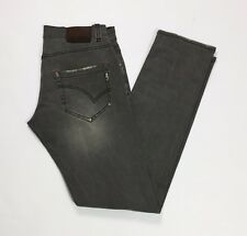 Up star jeans uomo slim skinny w34 tg 48 grigio denim vita bassa stretch T2791