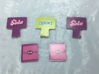 Mall Madness Replacement 2 Sale & 1 Clearance Signs 2004 Parts Board Game FS EUC