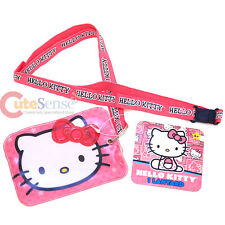 Sanrio Hello Kitty Lanyard Keychain with ID Holder Ticket Pass Holder