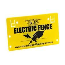 4 x Electric Fence Warning Signs Energiser Farm Solar Fence Fenceline